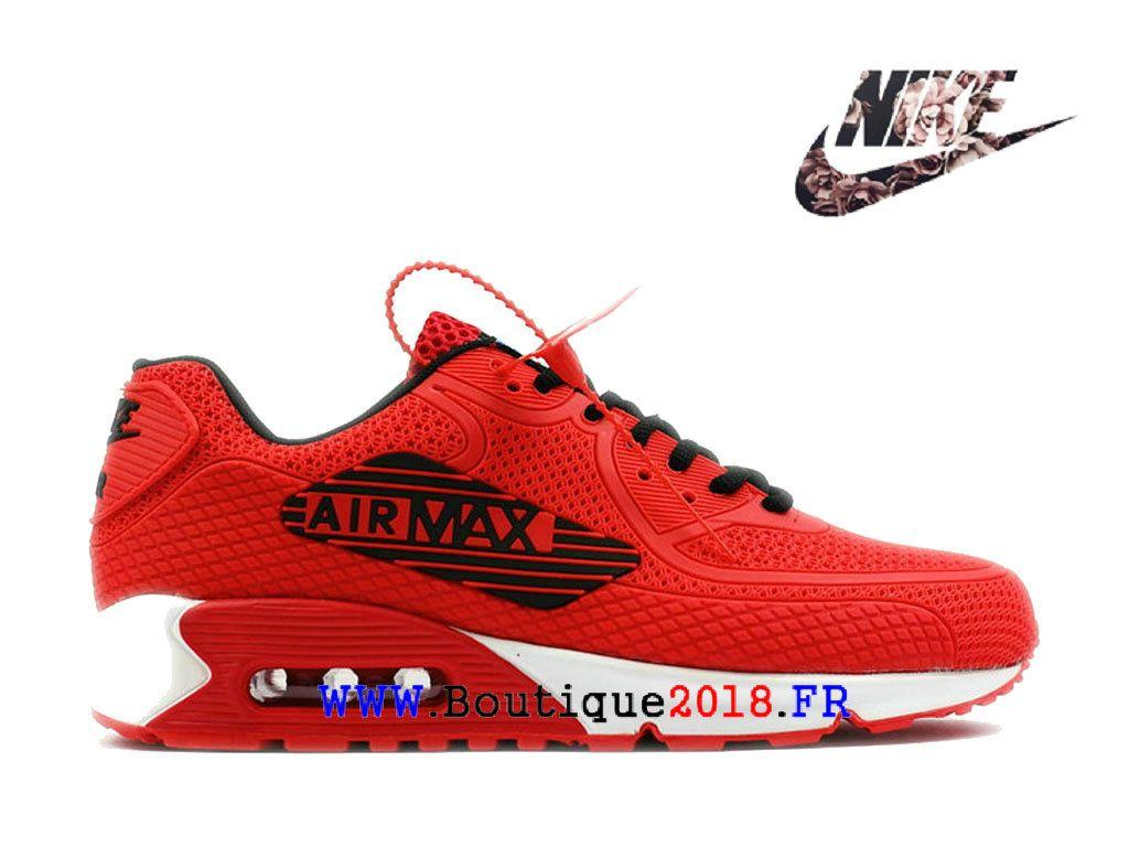 ba3a9e84e2835 Blanc cassé X Nike Air Max 90 Drop Gouttes Matériel Baskets Pas Cher Pour  Homme Rouge