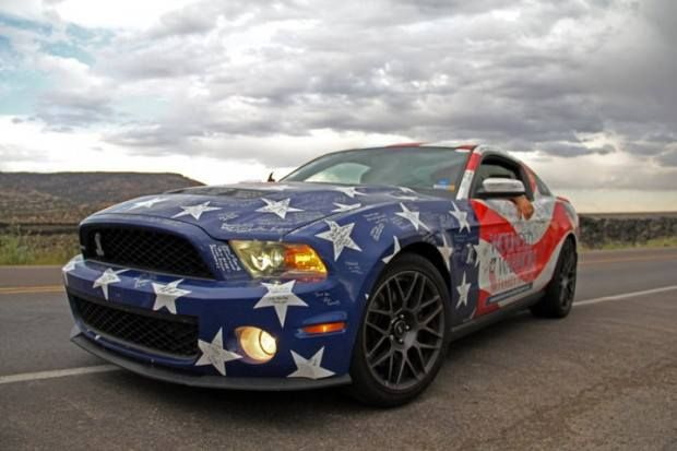 Happy 4th of July... Red, white  blue MUSTANG  :-)