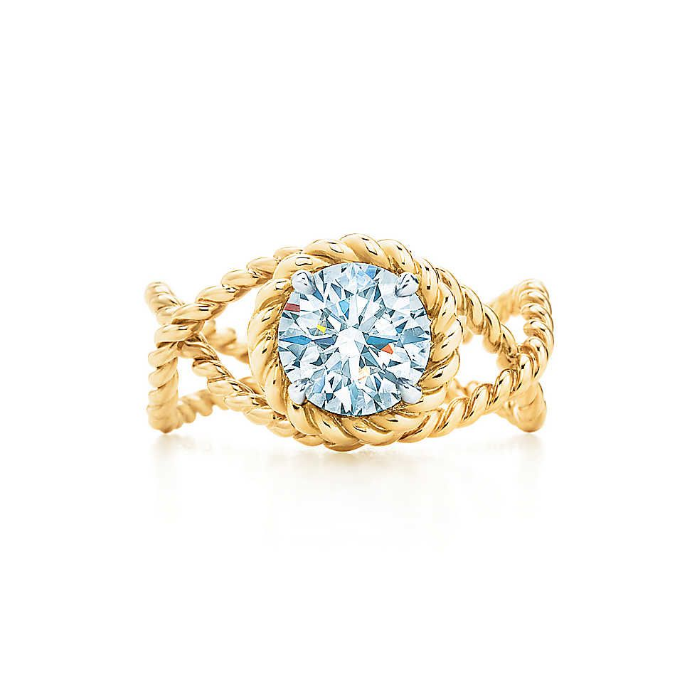 Schlumberger Rope Ring Tiffany 18k gold and Ring