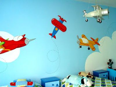Decoraci n de paredes pintura mural decorativa - Decoracion de paredes infantiles ...