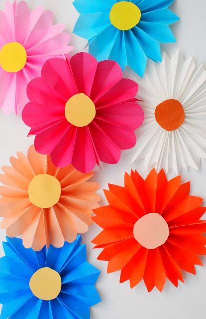 Accordion folded flowers origami paper origami and flower accordion folded flowers easy paper craftsdiy mightylinksfo