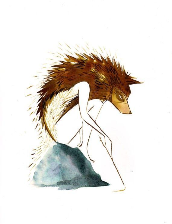 """Young Fenrir"" by Emma SanCartier (esan01, Etsy). I *love* her artwork."