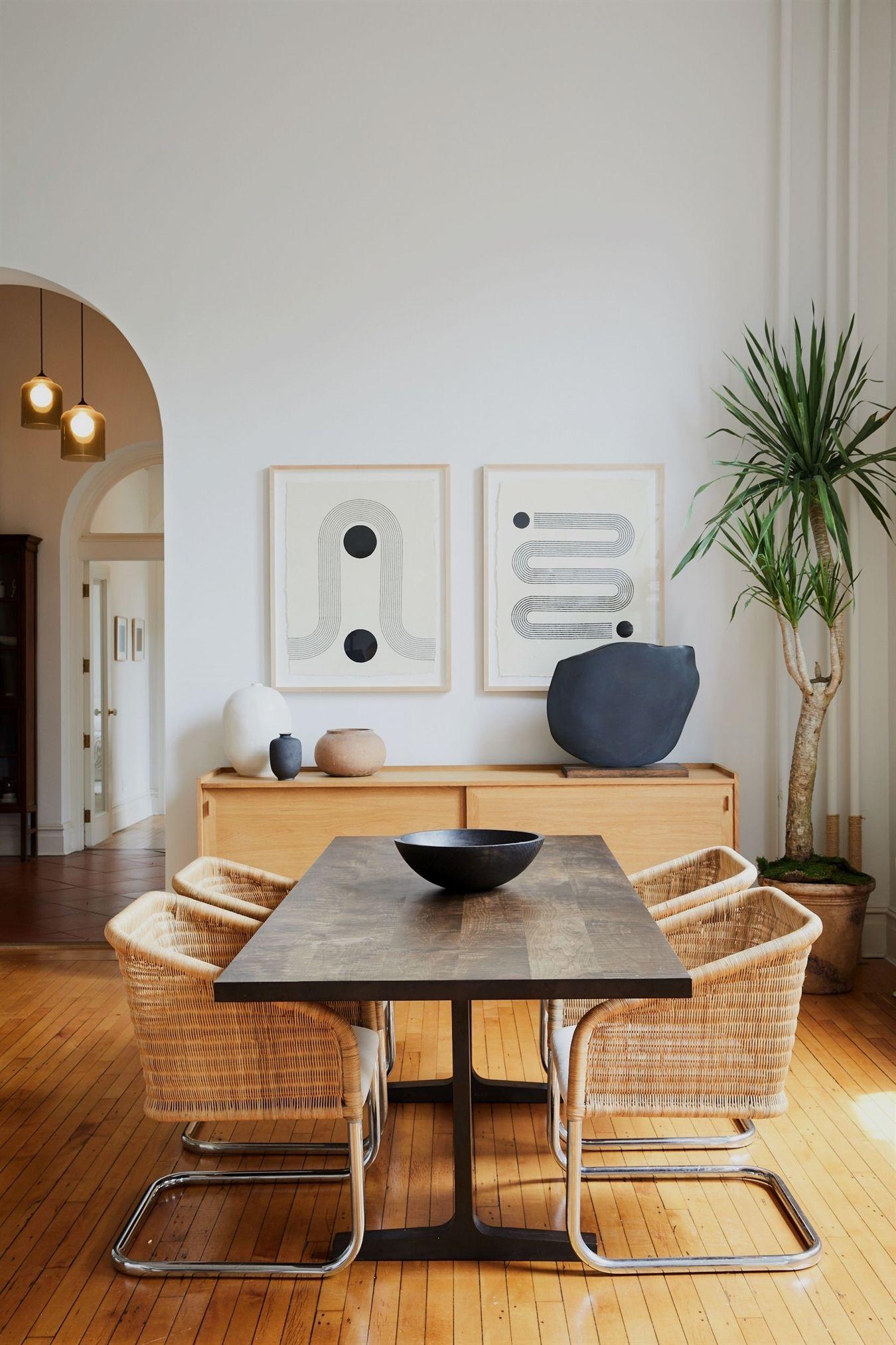 Modern Boho Brooklyn Loft On Apartment 34 Kitcheninteriordesign Modern Dining Room Dining