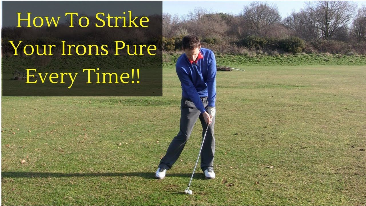 HOW TO STRIKE YOUR IRONS PURE YouTube Golf swing, Golf