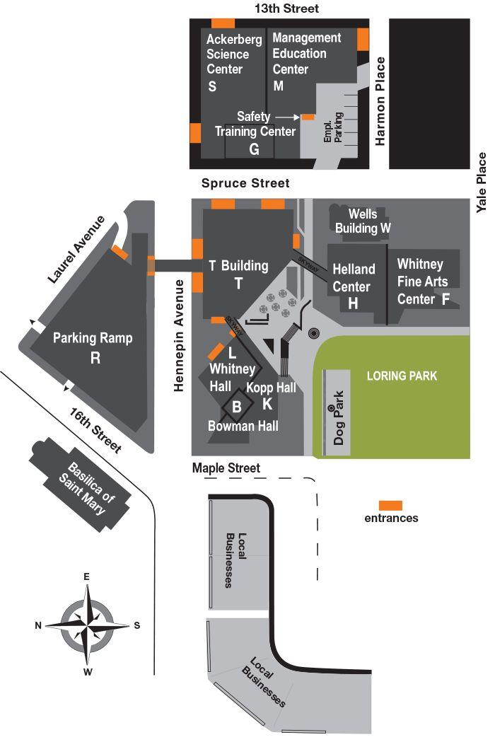 hennepin tech eden prairie campus map Mctc Campus Map Campus Map Map Campus hennepin tech eden prairie campus map