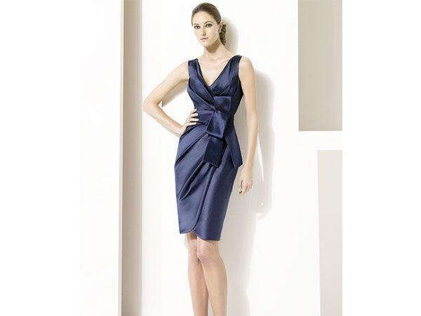 Vestido dama corto azul marino