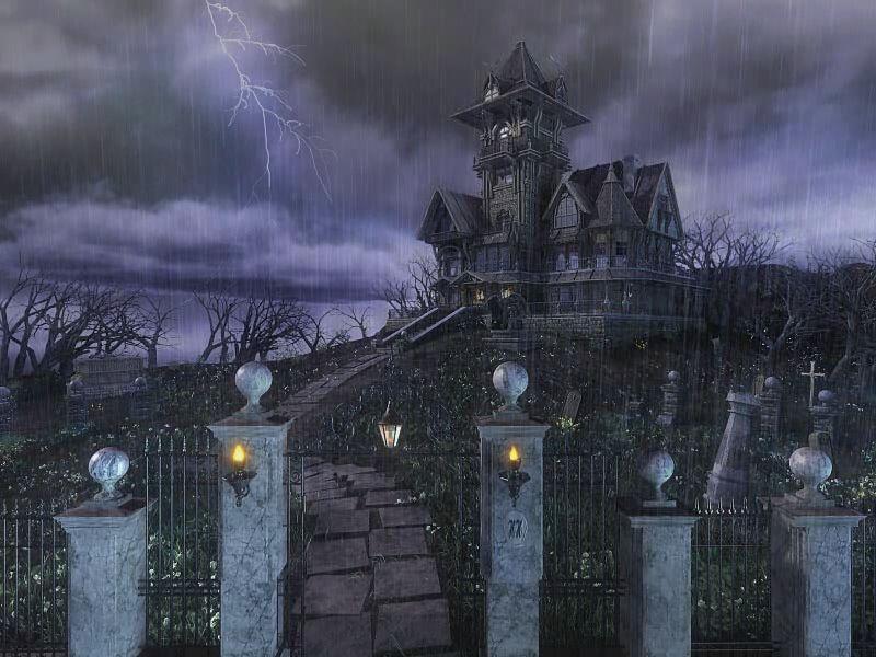 Halloween Haunted House Wallpaper