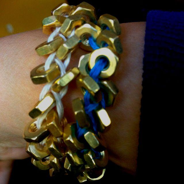 new diy hex bracelet ;)