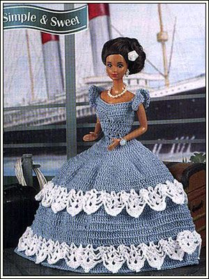 barbie crochet simple sweet pattern barbiekleider pinterest barbie puppen und. Black Bedroom Furniture Sets. Home Design Ideas