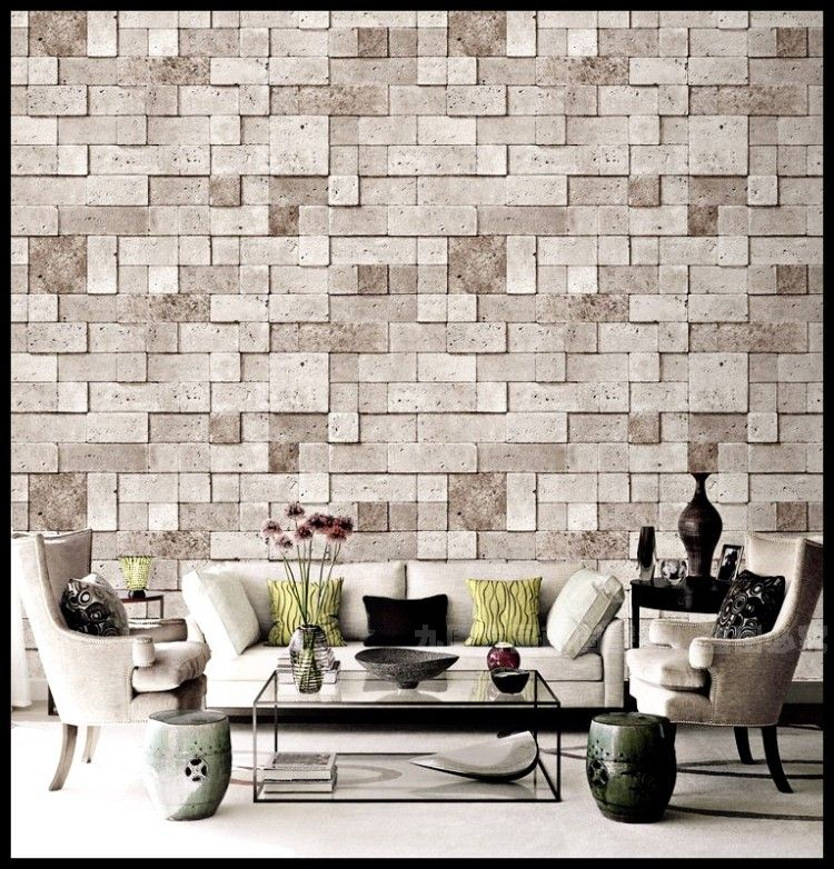Korea wallpaper gray brown chinese retro bump texture for Living room wallpaper texture