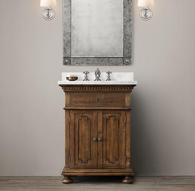 James Powder Vanity Room Restoration Hardware Sink