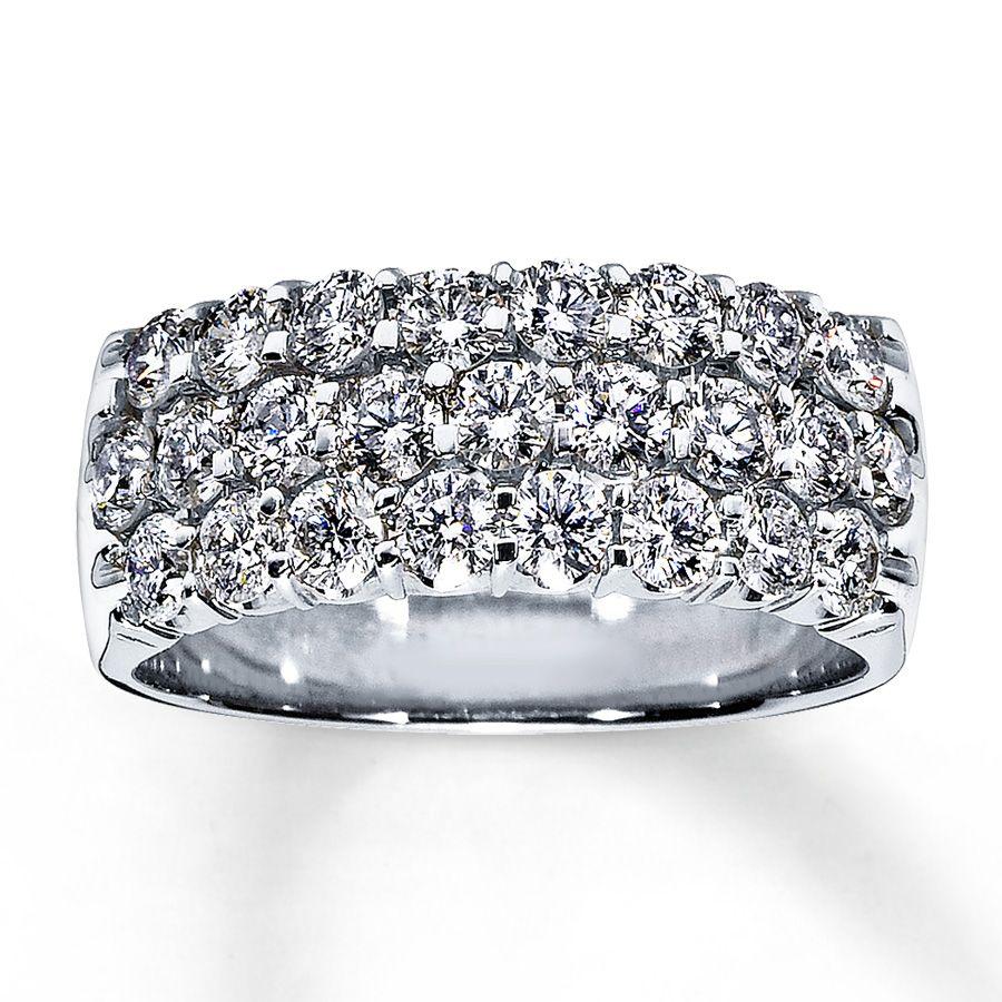 Anniversary ring 1 12 CT roundcut 14K white gold Jared Rings