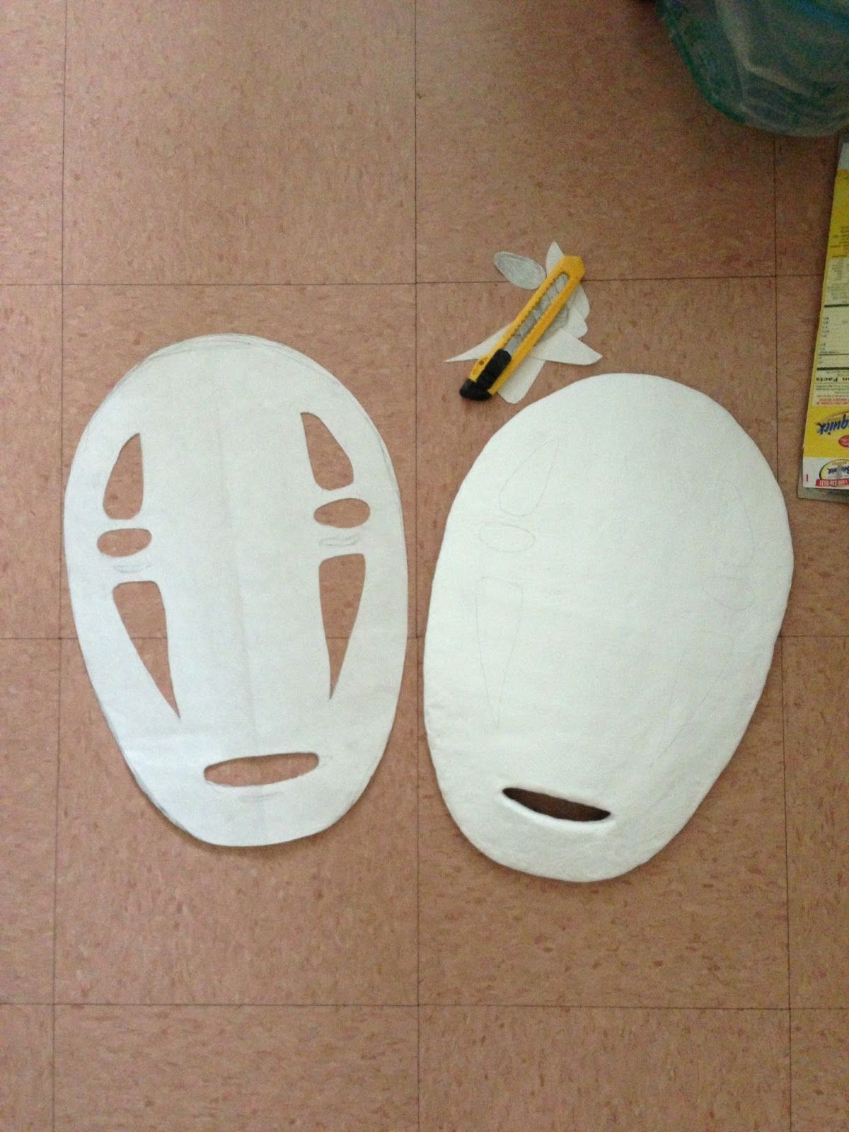 I Tried Searching For Ideas On How To Make A No Face Mask But Didn T Find Anything I Was Hoping For So I Made A T Mask Tutorial Anime Crafts No