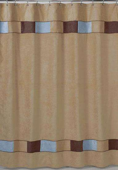 Soho Blue And Brown Shower Curtain By Jojo Designs