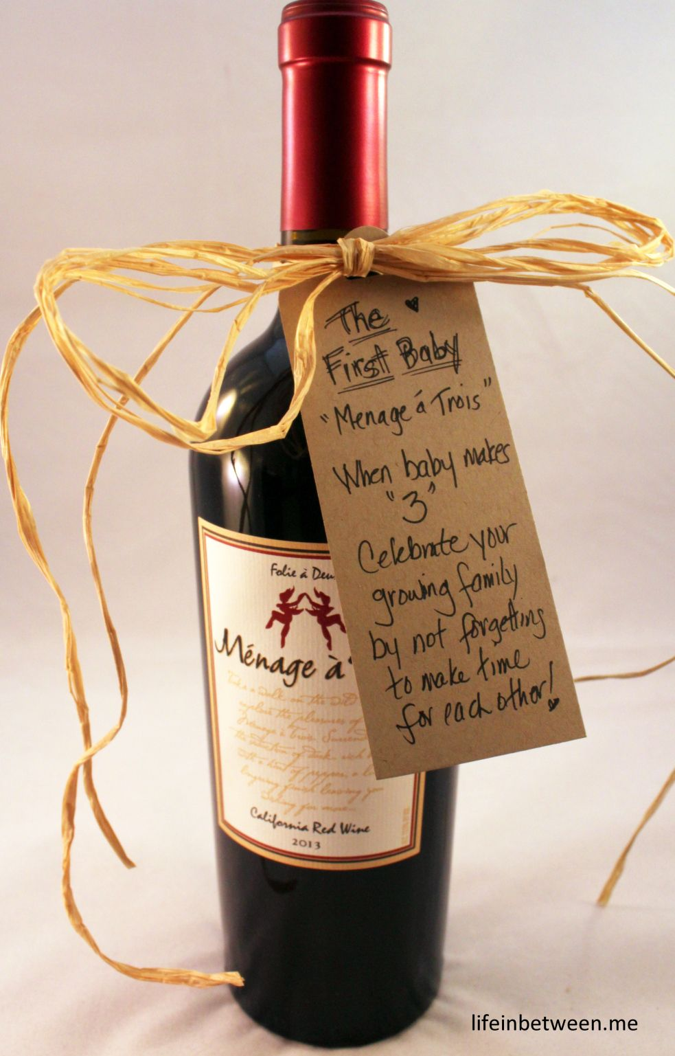 wine bridal shower gift first baby bottle