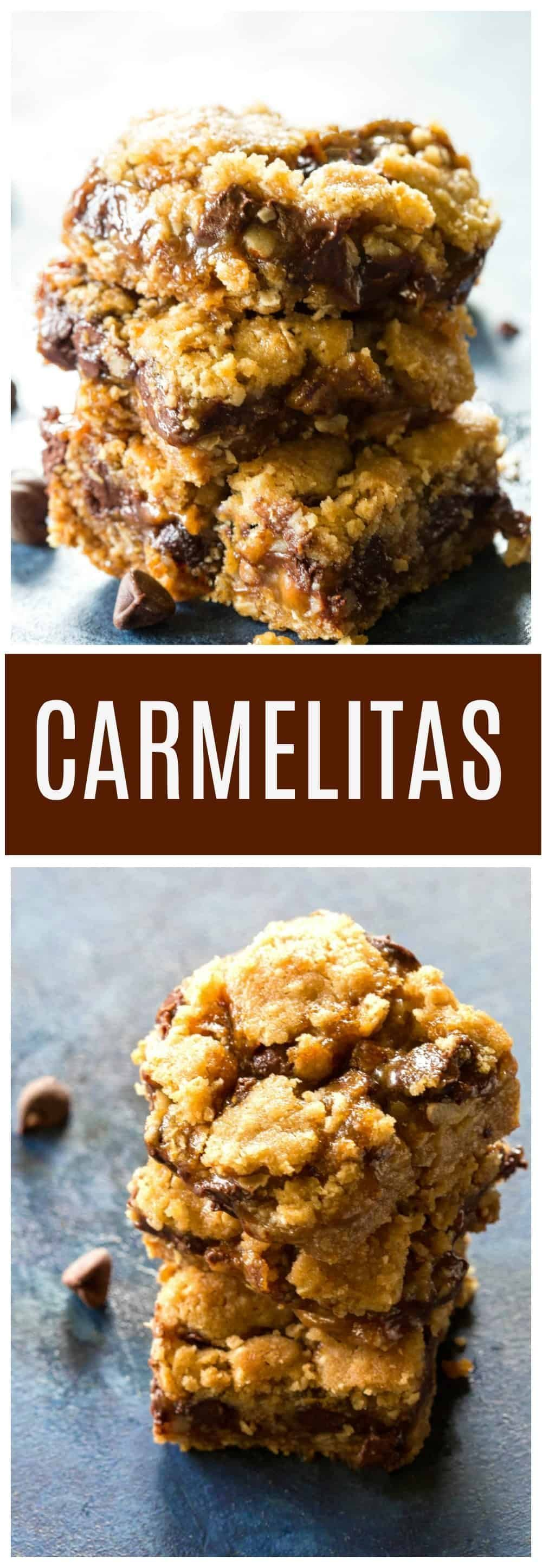 Carmelitas are loaded with caramel. chocolate chips. and oatmeal dough. This recipe is so easy! the-girl-who-ate-These Carmelitas are loaded with caramel. chocolate chips. and oatmeal dough. This recipe is so easy! the-girl-who-ate-