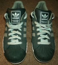 ADIDAS Superstar 2 sneakers. Forest Green, with light green