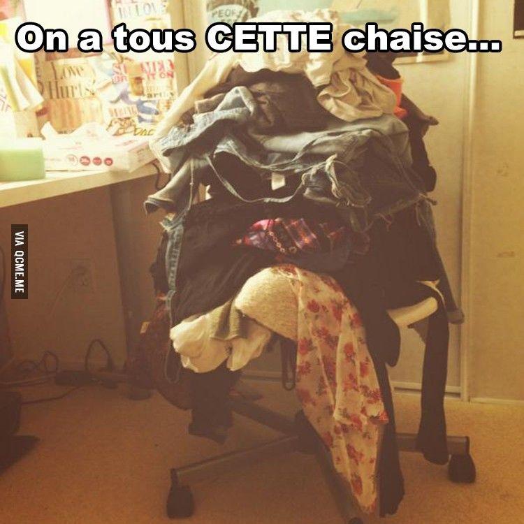 On a tous cette chaise !!