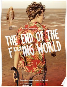 The End Of The F Ing World Poster By Moviesup In 2021 World Wallpaper Jessica Barden Comedy Tv Series