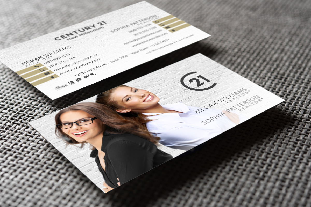 Modern And Unique Century 21 Team Business Card Real Estate Business Cards Business Card Template Business Card Design