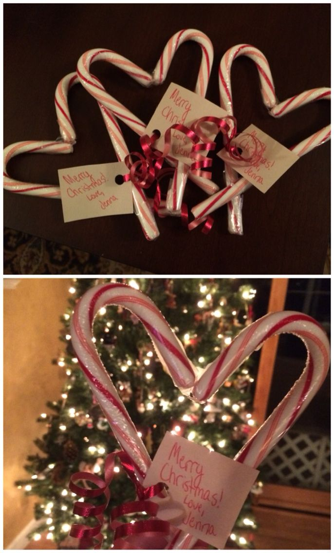 DIY candy cane hearts