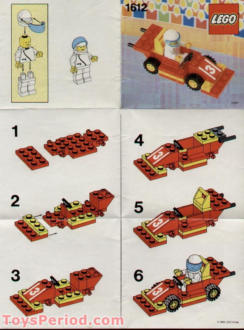 Lego 1612 Race Car And Driver Polybag Set Parts Inventory And Instructions Lego Reference Guide Lego Design Lego Instructions Vintage Lego