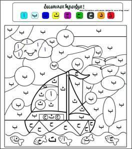Apprendre l alphabet arabe en s amusant cours arabe coloriage magique et lettre arabe - Alphabet arabe a imprimer ...