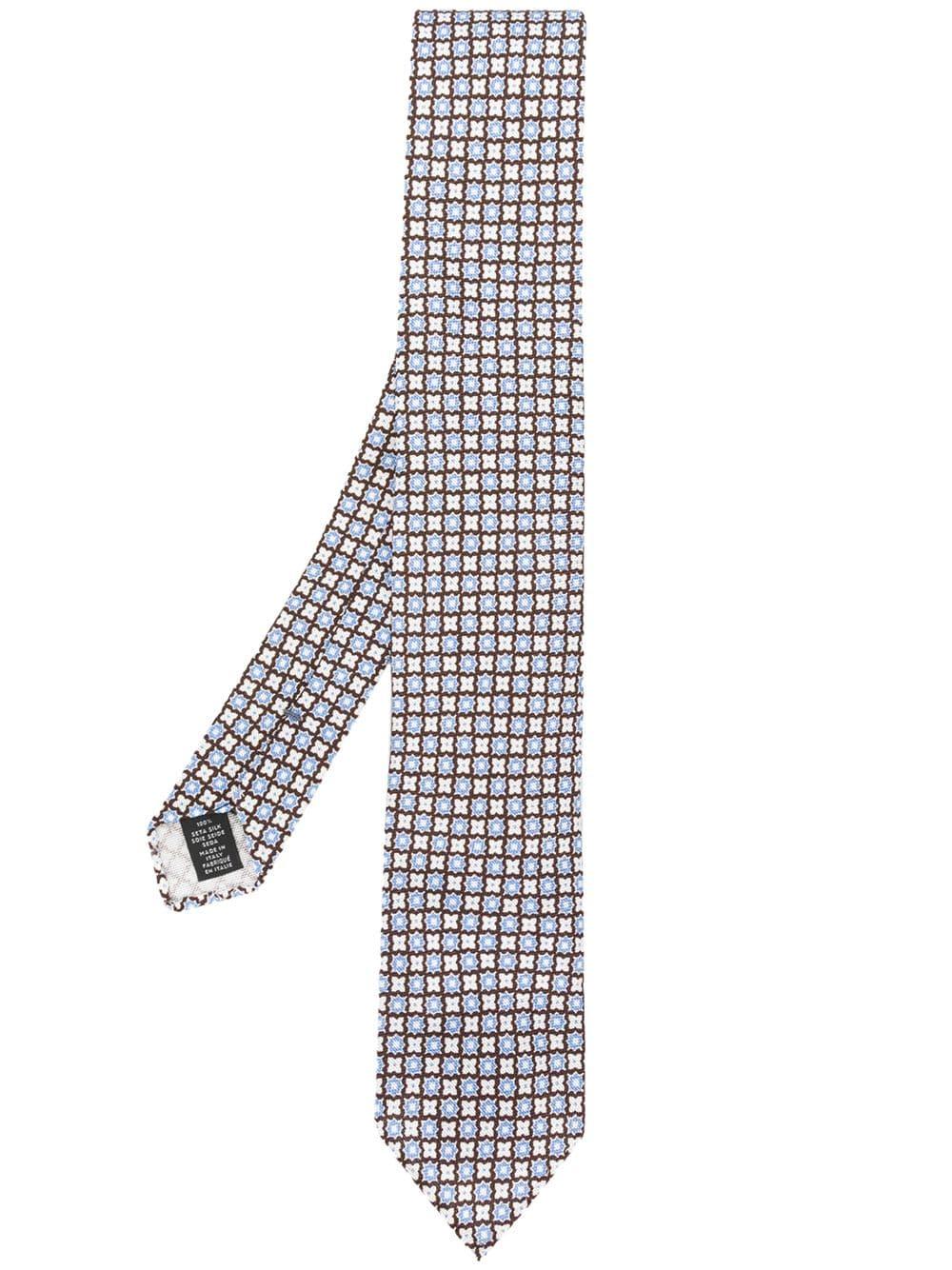 0ac1ec08 Ermenegildo Zegna Geometric Floral Pattern Tie in 2019 | Products ...
