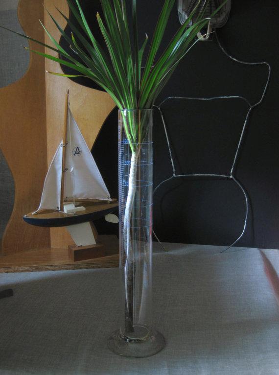 Vintage Large Laboratory Glass Graduated Cylinder Beaker 18 Inch