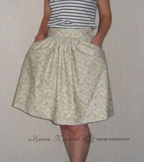 Сшить юбка с карманами выкройка