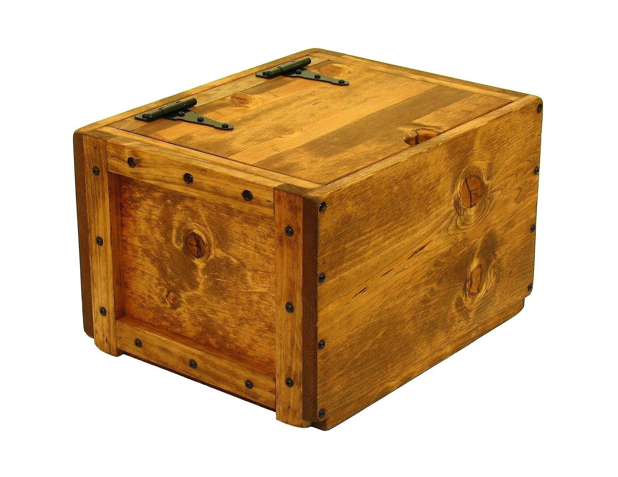 Lidded Chest Small Trunk With Lid Lidded Wooden Box Wood Crate With Hinged Lid Perfect For Easy Access Storage Of Blankets Diy Wood Box Wood Diy Wood Boxes