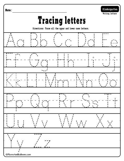 49++ A z writing worksheets for kindergarten Top