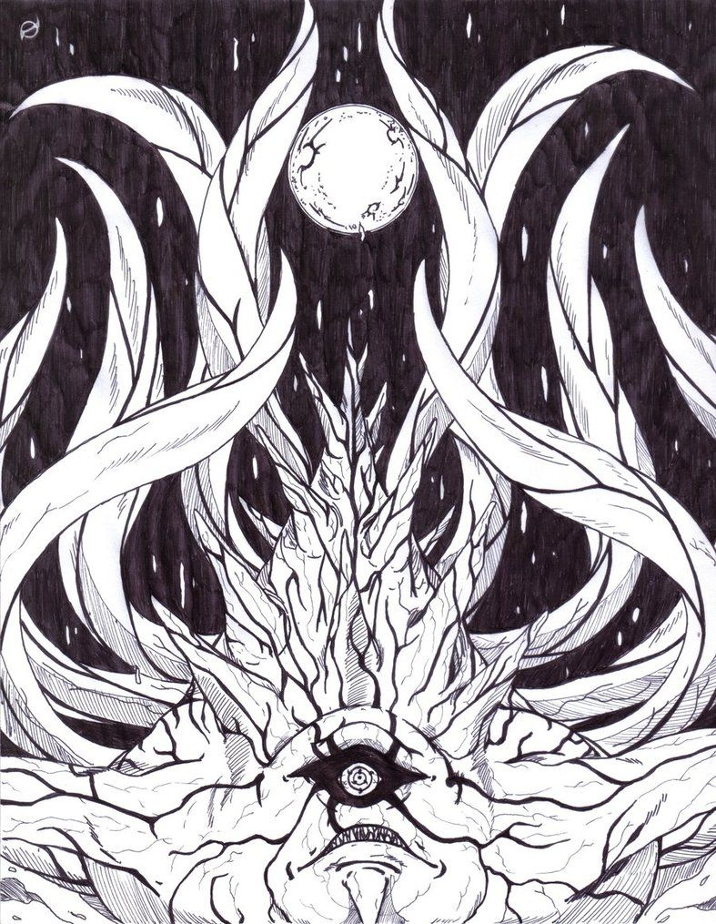 Ten Tails Version 2 By Keenoorate Naruto Drawings Tailed Beasts Naruto Anime Art