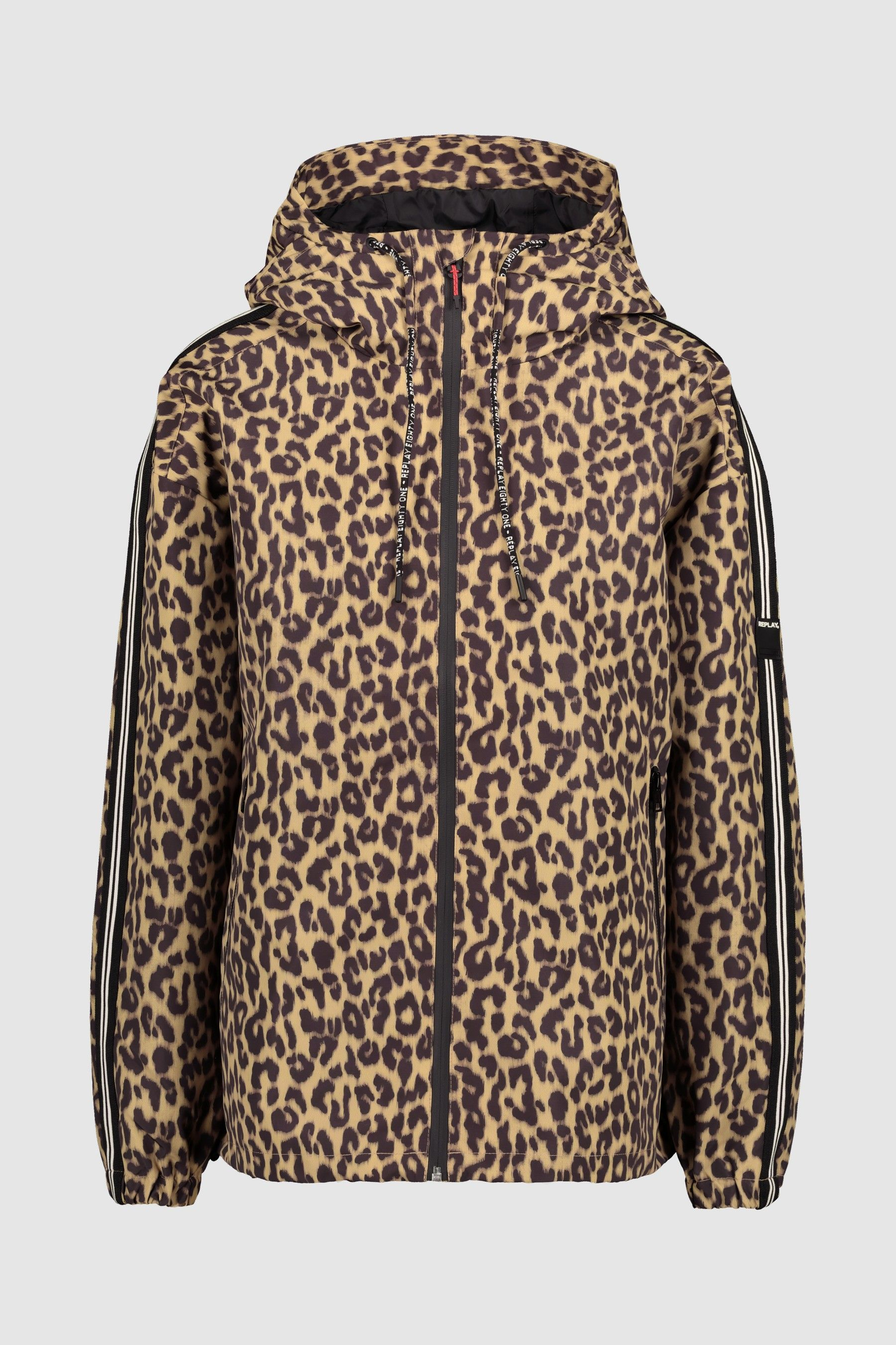 Womens Replay Leopard Print Jacket Blue   Products in 2019