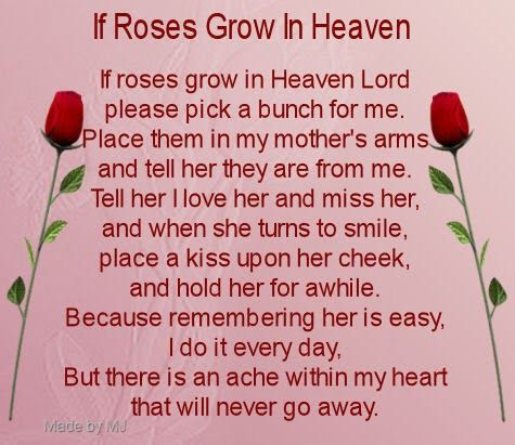 Happy Birthday Mom Mom In Heaven Mom In Heaven Quotes Poem For