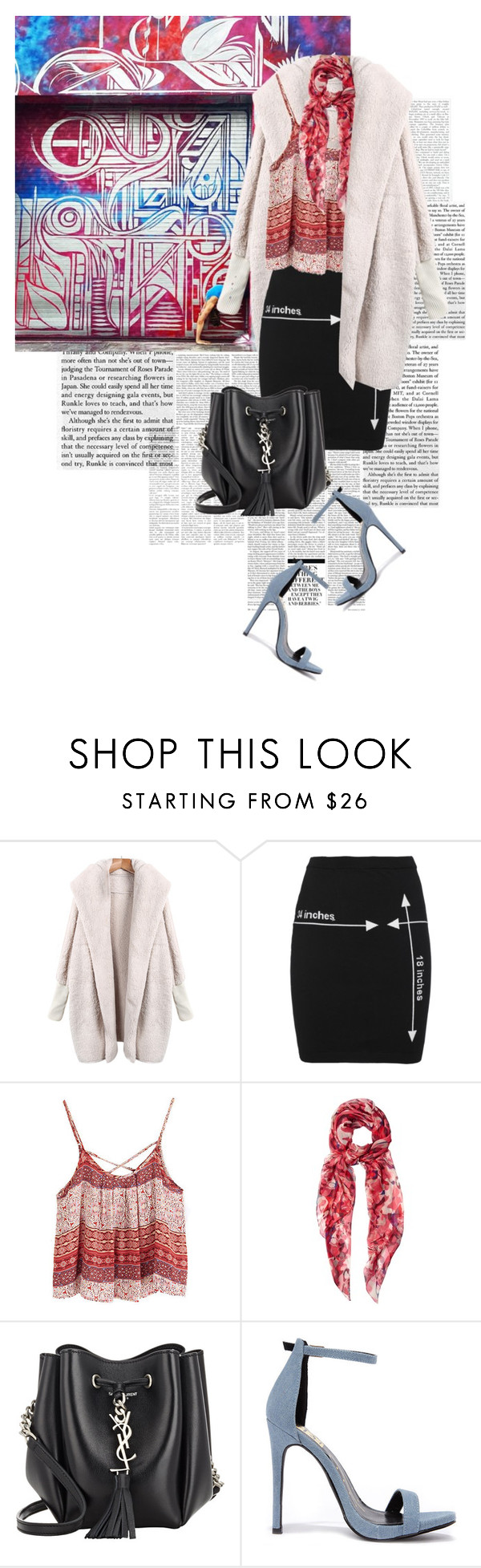 """""""Soren Buchanan Marries Yoga Poses With Chicago's Street Art"""" by marierabier ❤ liked on Polyvore featuring Nicki Minaj, Moschino, Alexander McQueen, Yves Saint Laurent and Fahrenheit"""