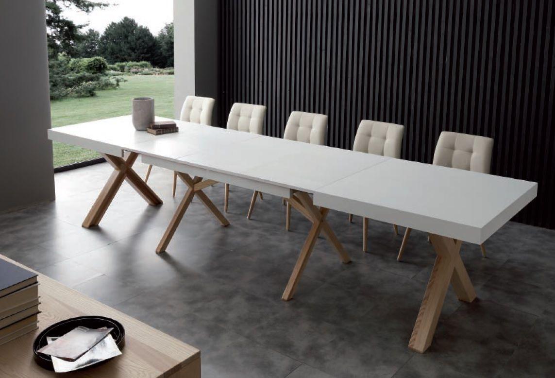 Tavoli Da Pranzo Bianchi.Tavolo Leonardo Allungabile La Seggiola Nel 2020 Tavolo