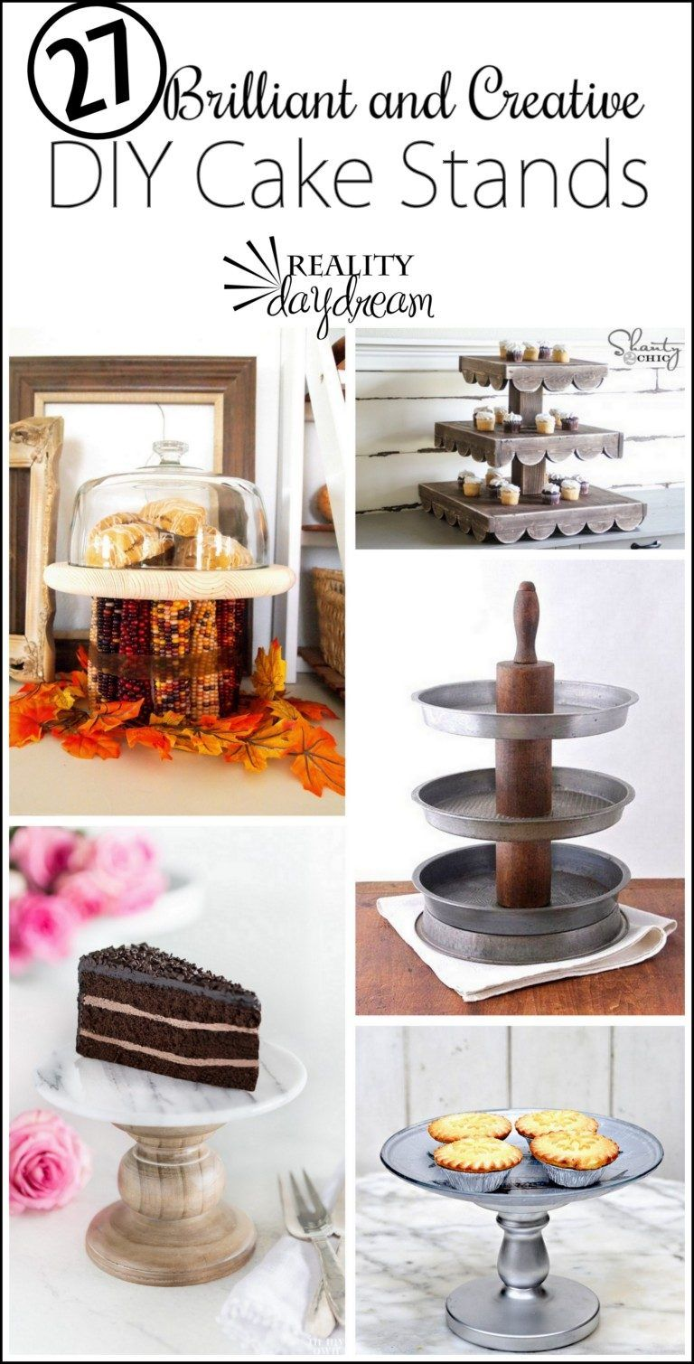 Brilliantly creative diy cake stands reality daydream