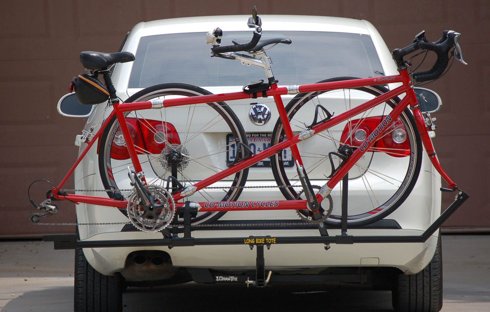 Details About Longbiketote Tandem Bike Rack Hitch Mounted With