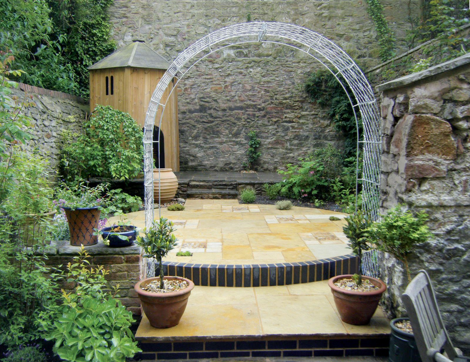 six foot double frame roman arch hand made in britain by garden