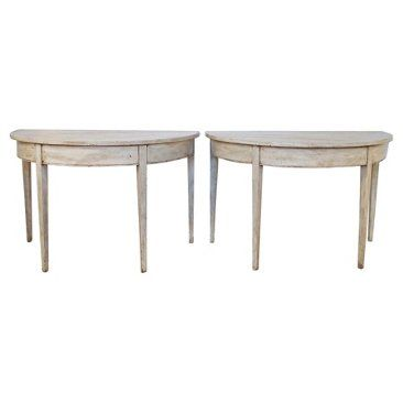 Check out this item at One Kings Lane! Gustavian-Style Consoles, Pair