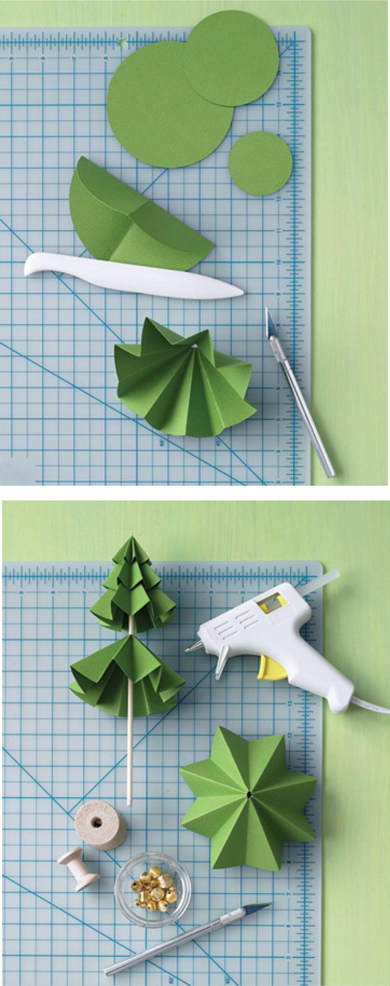 Arbolitos de navidad paso a paso manualidades arbol for Adornos navidenos origami paso a paso