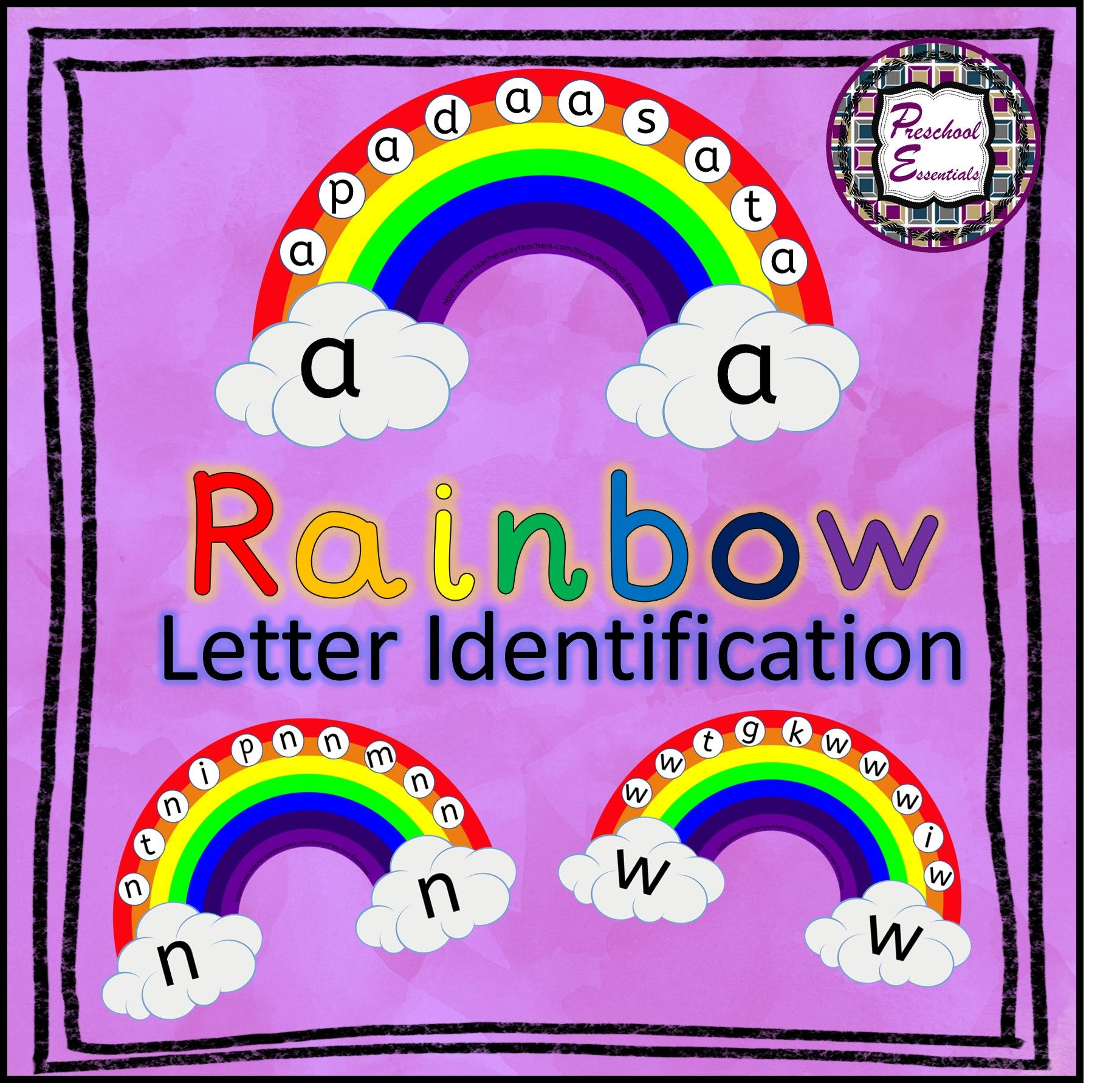 St Patrick S Day Rainbow Letter Identification In