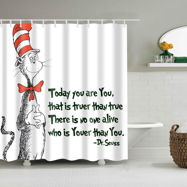 Love Quotes Dr Seuss Shower Curtain Bathroom Decor Fabric Shower