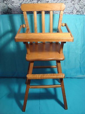 b8beebdbfbc7 Vintage 1960 s wooden doll highchair. I have one of these along with a wooden  doll crib and play pen. The best memories.