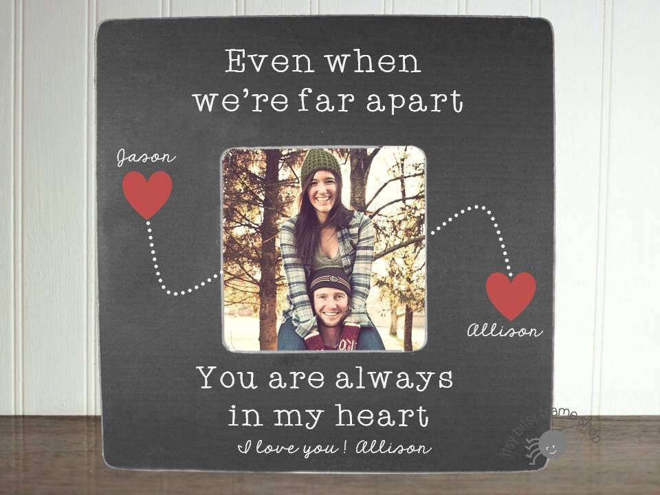 Personalized Boyfriend picture frame Long Distance Relationship Gift ...