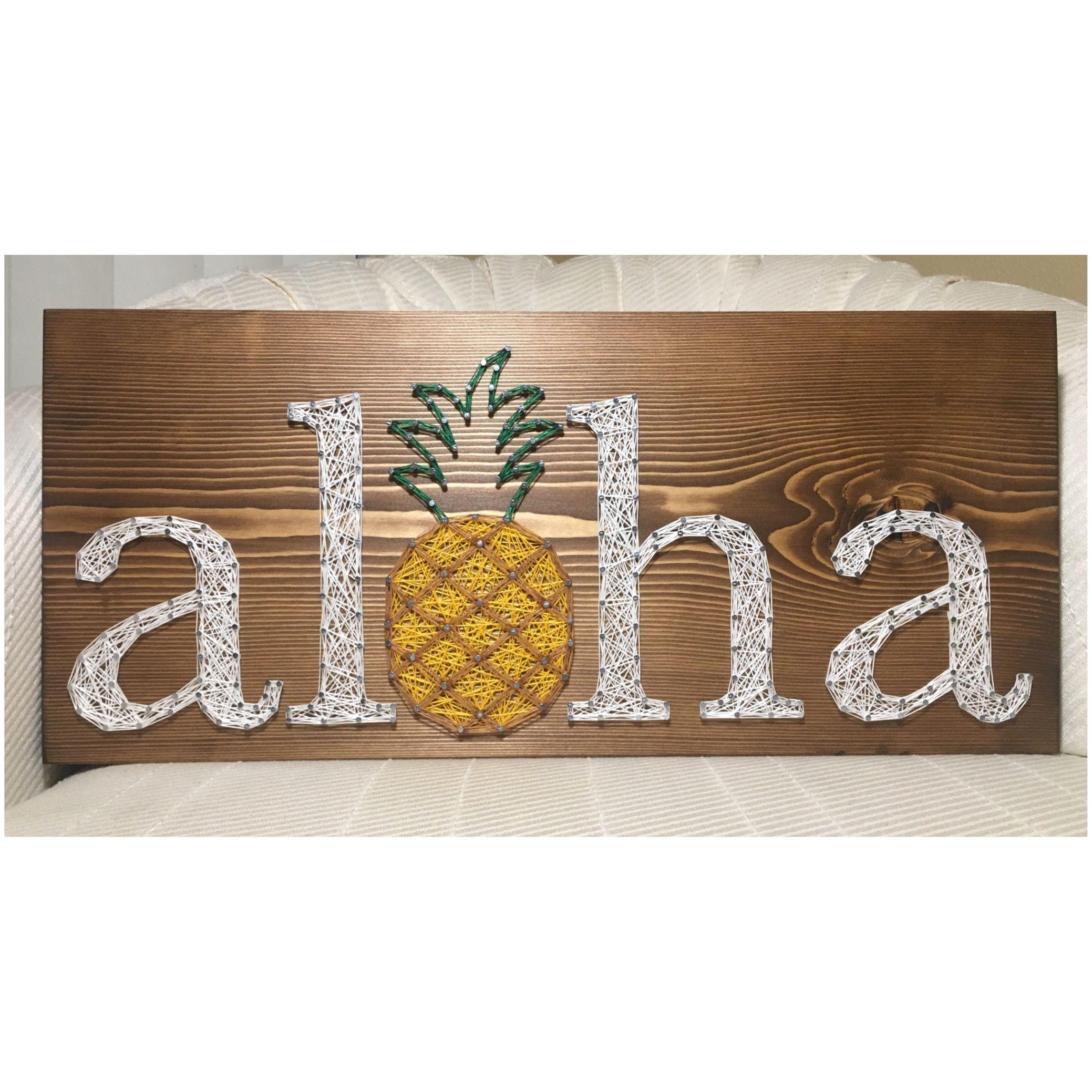 String Art: Aloha String Art, Pineapple, Hawaii- Order From
