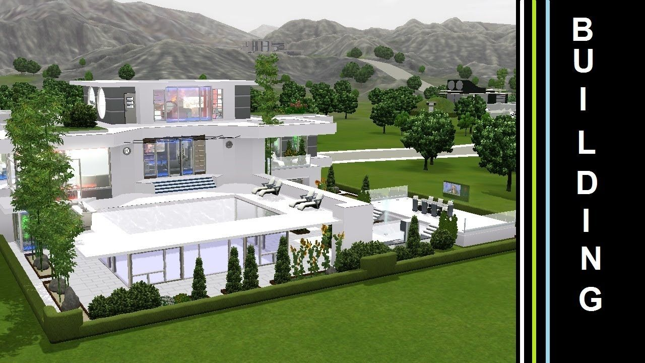 The Sims 3 Into The Future Building A Futuristic House Green Terasse Futuristic Home Future Buildings Building