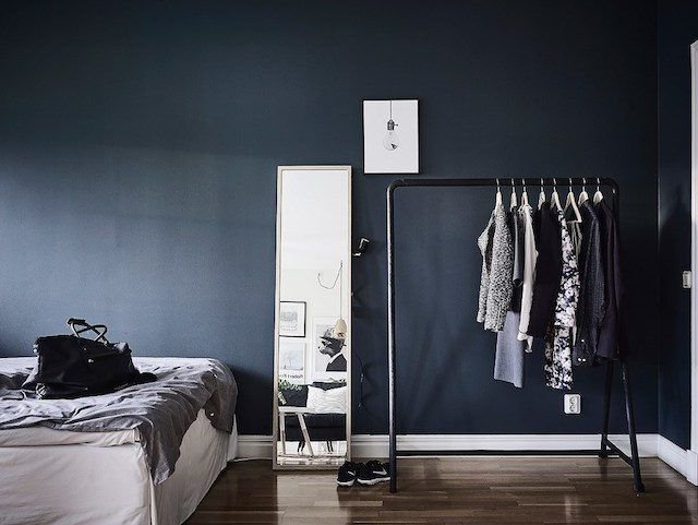 Wandfarbe und Ausrichtung my scandinavian home: A fab Swedish small space with different 'zones'