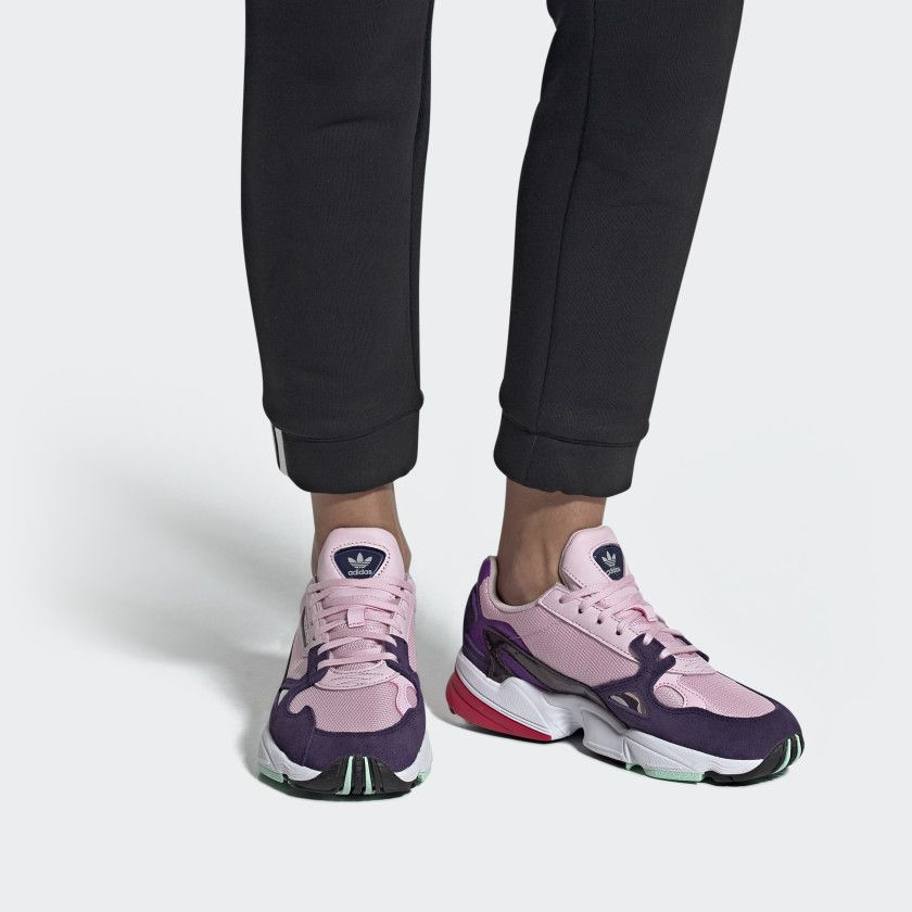 acción bandera Seguid así  Falcon Shoes Clear Pink / Clear Pink / Legend Purple BD7825   Pink adidas,  Adidas models, Purple sneakers